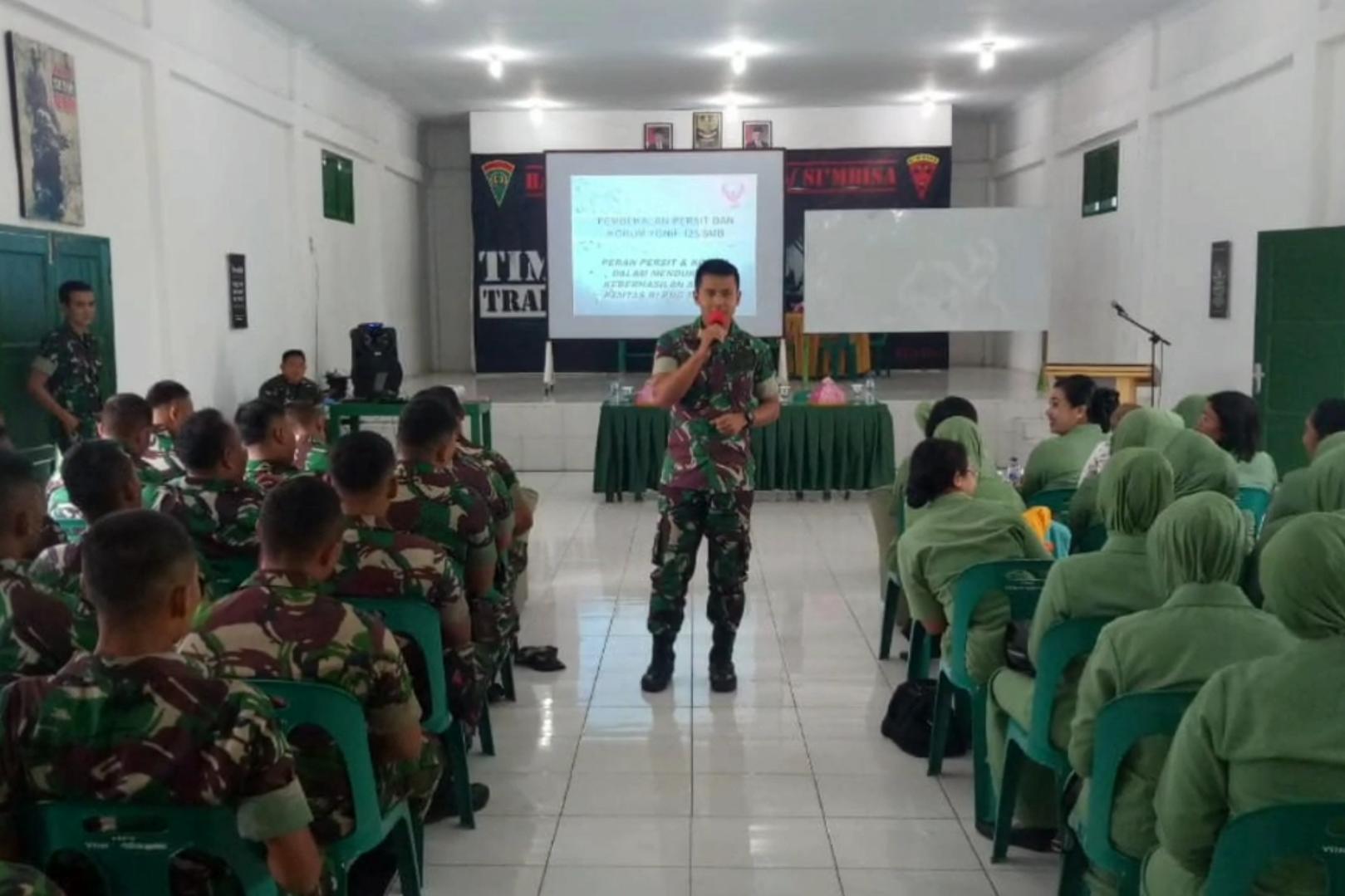 Pemeriksaan dan Pembekalan Psikologi terhadap Prajurit Batalyon beserta keluarga yang akan Melaksanakan Penugasan Pamtas